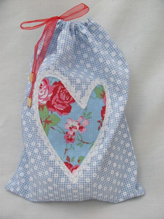 Blue Floral Lingerie Tidy Bag £7.50
