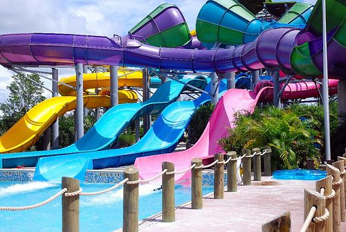 .: Awesome Pools Waterslides, Pink Summer, Colorful Waterslides, Bucket List, Waterslides Colors, Water Slides, Swimming Pools Waterslides, Water Parks, Waterslides Waterparks