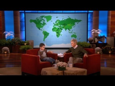 This pint-sized geography whiz helped Ellen get ready for her trip to Australia! You won't believe how much he knows about the world.