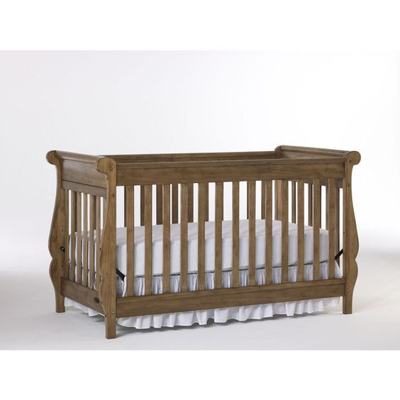 Graco Shelby 4-in-1 Classic Crib in Cappuccino | Love this color & shape.  Would look great against your screen.