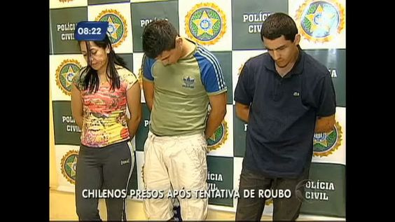 Polícia prende trio de chilenos que praticava roubos na zona oeste do Rio - Vídeos - R7