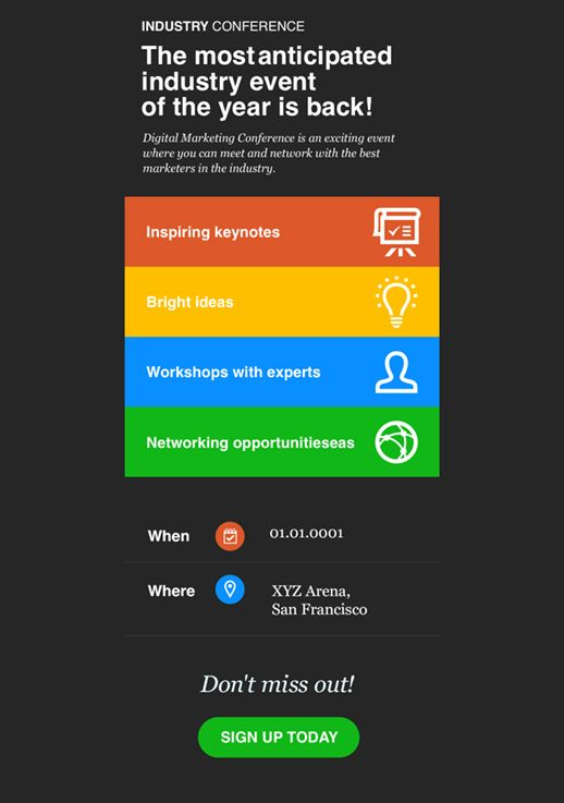 Industry Conference Newsletter Template Newsletter Templates