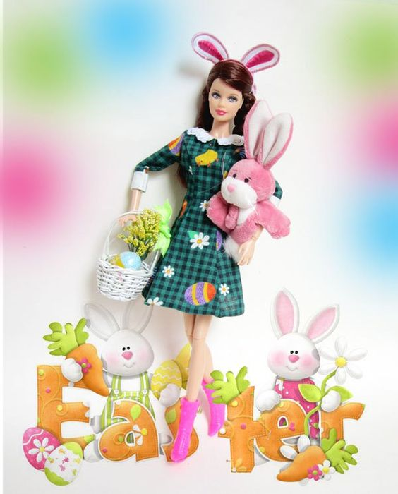 Happy Easter, Funny Bunny Barbie: