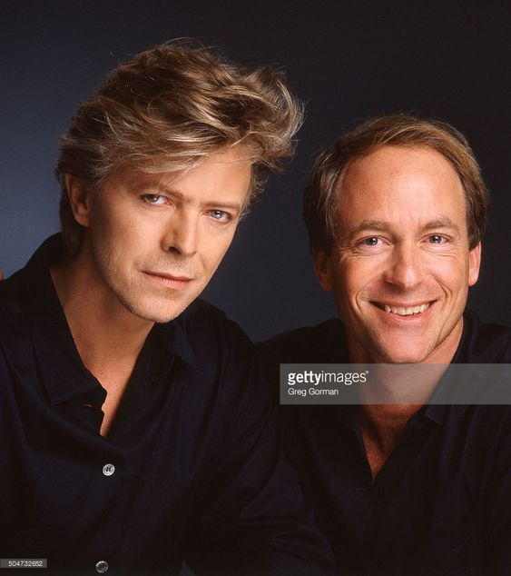 English musician David Bowie and photographer Greg Gorman are photographed for Self Assignment on January 15, 1987 in Los Angeles, California.