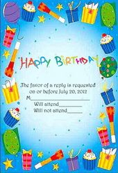Microsoft Word Birthday Invitation Templates