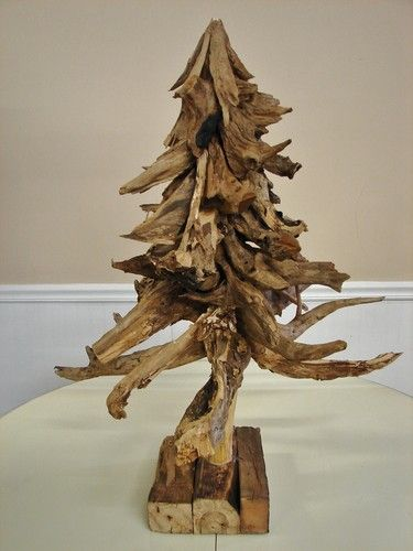 drift wood Christmas tree sculpture