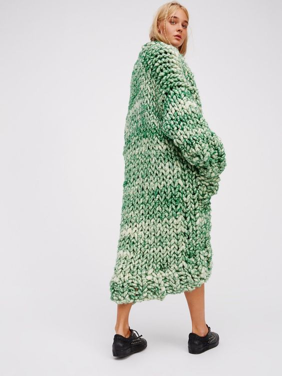 FP LOOPY MANGO Favorite So-Chunky Oversized Knit Sweater Coat