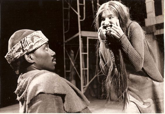 Nancy Carlin and Walter Brown in Two Noble Kinsmen, 1985. (Photo credit corrected!)