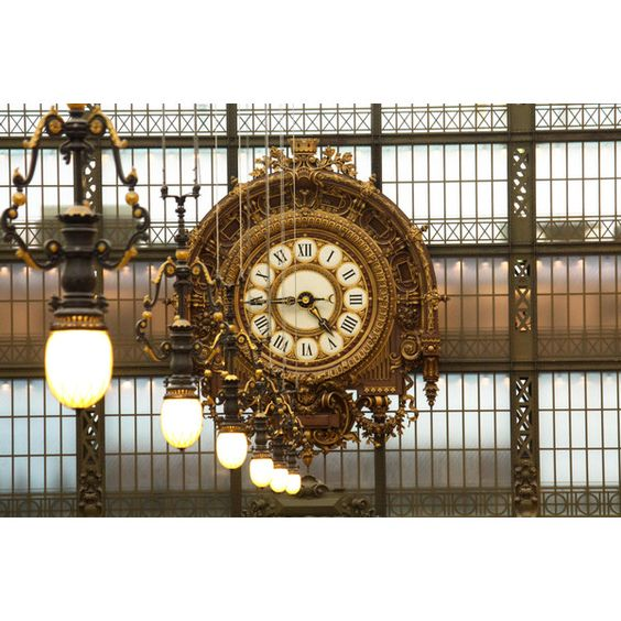 Paris Photography - Musee D'orsay, Gold Clock - french home decor,... (¥3,555) ❤ liked on Polyvore featuring home, home decor, wall art, photo wall art, paris wall art, paris home decor, gold home accessories and french home accessories
