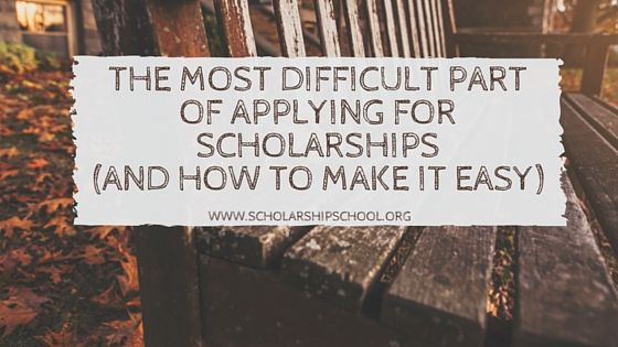 The Most Difficult Part of Applying for Scholarships (and How to Make It Easy) — The Scholarship System