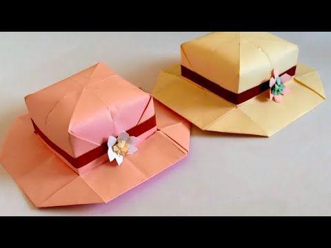 صنع اشياء بالورق صنع قبعة ورقية للبنات Make Paper Hat For Girls Container Takeout Container