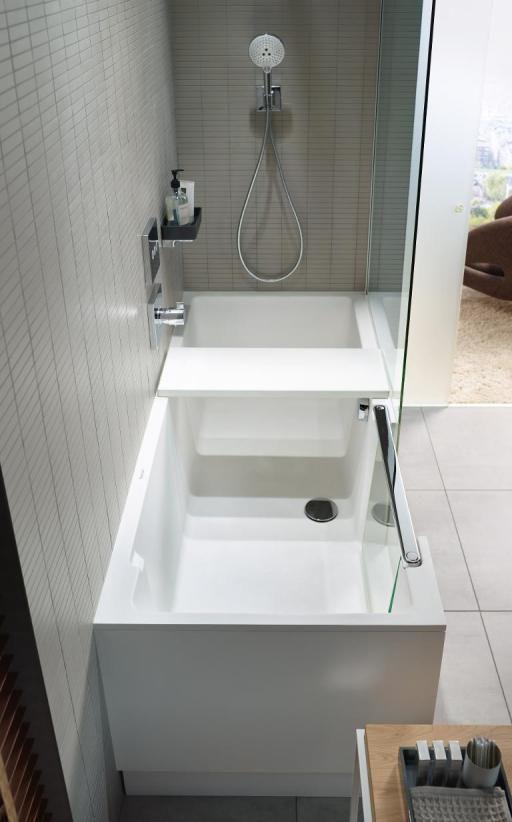 Shower + Bath: combiné bain-douche pour petites salles de bains | Duravit