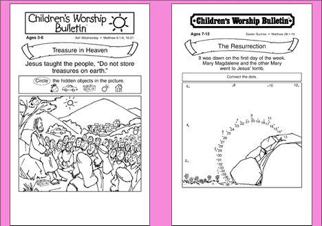 Enterprising image inside free printable children's church bulletins