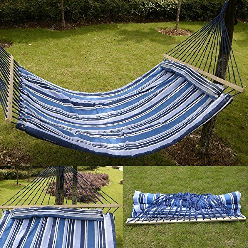 Ihp Double Size Hammock Quilted Fabric With Pillow Spreader Bar Hang Bed Heavy Duty Check Out This Great Product This Hanging Beds Hammock Girls Bed Canopy