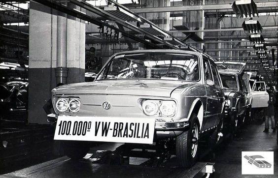 VW Brasilia Número 100.000. Brasil