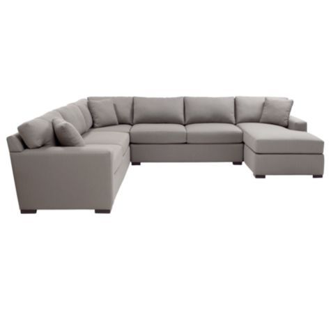 big gray couch! want!: Grey Couch, Living Rooms, Decor Ideas, Sectional Living Room, Family Rooms, Sectional Sofa, Living Room Furniture