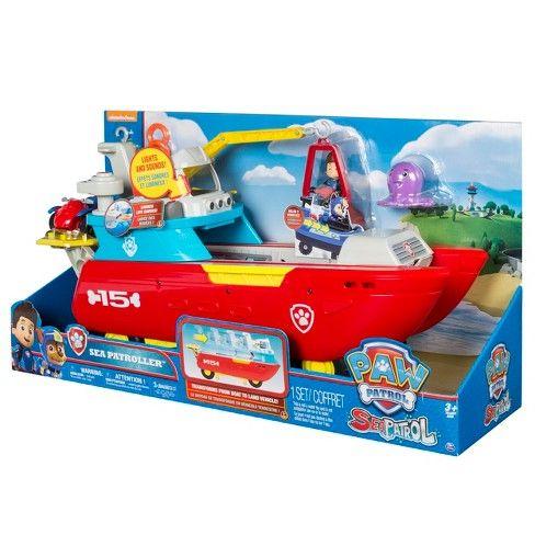 Paw Patrol Sea Patrol Sea Patroller Transforming Vehicle With Lights And Sounds Paw Patrol Paw Patrol Nickelodeon Paw Patrol Toys