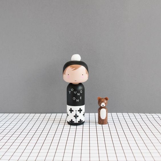 Finlay's Custom Kokeshi Doll From Sketch Inc  | Chalk Kids