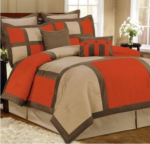 183 Best Orange Coral Yellow Bedroom Images On Pinterest: Images Of Orange Brown Bedding Set