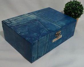 Kit Porta Documentos Lápis Imita Jeans