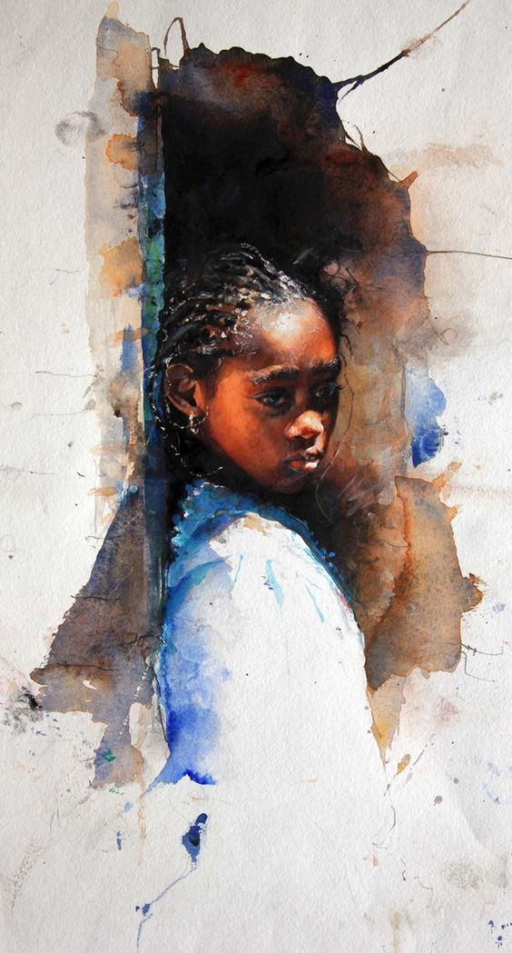 """""""Zaria"""" Stephen Scott Young, [gicleé of] watercolor"""