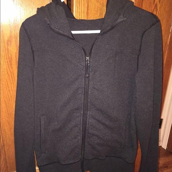 Lululemon Heathered Grey Zip-Up Grey lululemon zip-up hoodie. Great condition! Not a fitted hoodie, fits loose. lululemon athletica Tops Sweatshirts & Hoodies