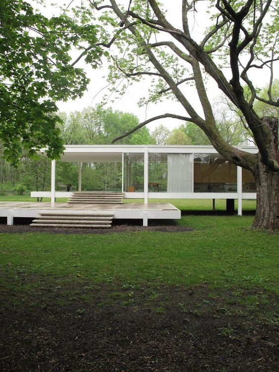 farnsworth house house and van on pinterest. Black Bedroom Furniture Sets. Home Design Ideas