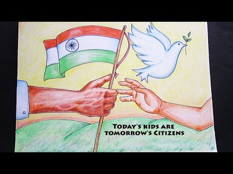 Creative Drawing Happy Independence Day Youtube Independence Day Drawing Republic Day Happy Independence Day India