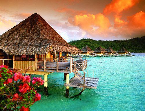 Over the Ocean, Tahiti, French Polynesia