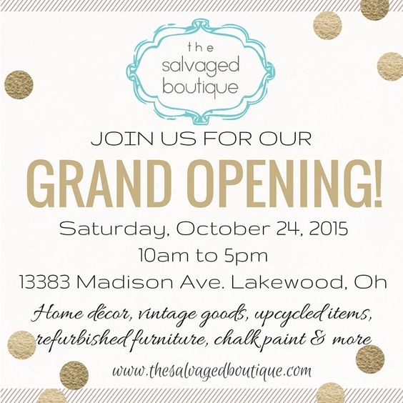 Karen And Kathy Announce The Salvaged Boutique S Grand