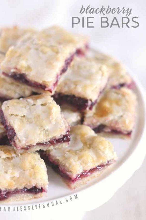 Easy Blackberry Pie Bars