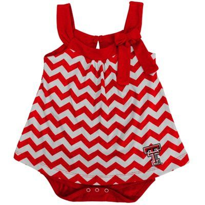 Girls Infant Texas Tech Red Raiders Scarlet Emily Creeper with Skirt