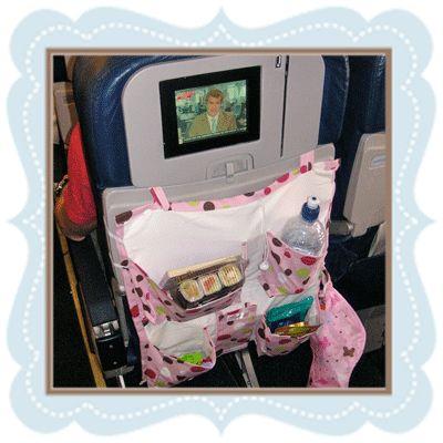 Airline seat back organizer