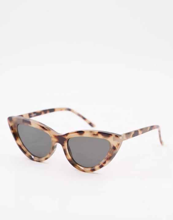 Recycled Frame Bevelled Cat Eye Sunglasses, £10, ASOS