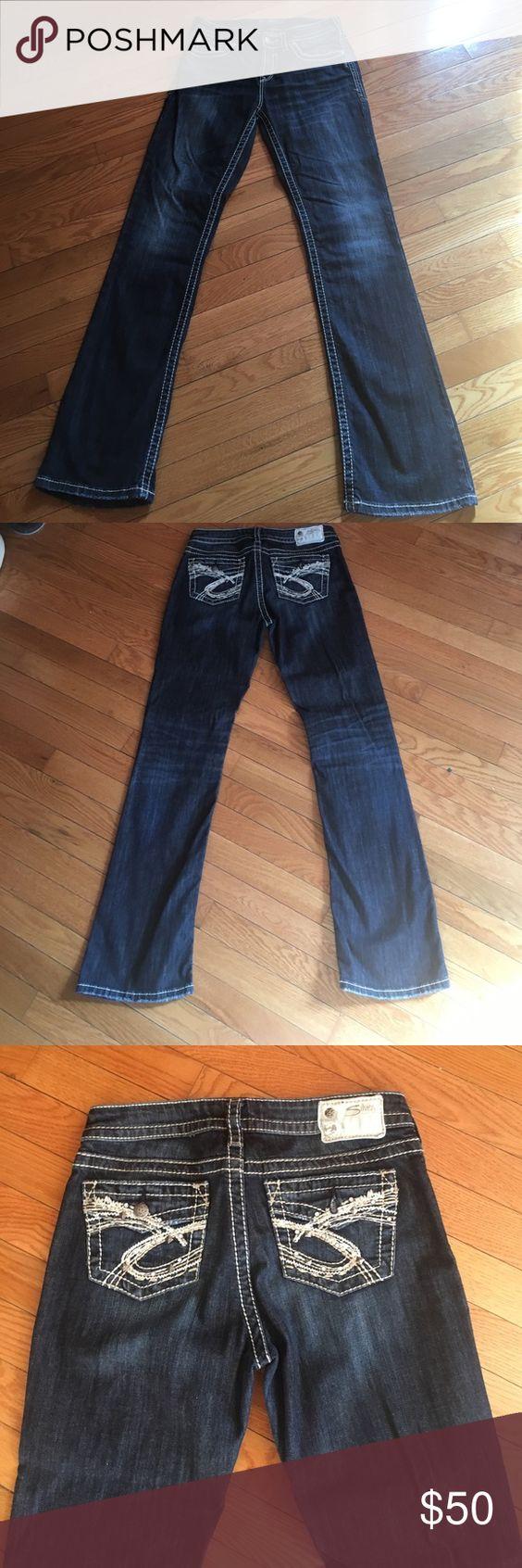 Silver Natsuki jeans | D, Dark denim and Silver