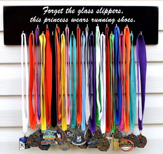 Running,Sports Medal Display,Hanger,Rack,26.2,13.1,S4520,Forget the glass,2017 #EataMangoCreations