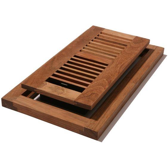 Decor grates wlfc410 u 4 inch by 10 inch wood flushmount for Decor grates