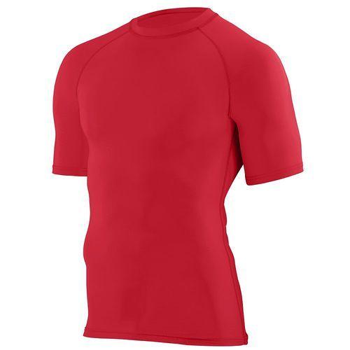 Red hyperform comporession short sleeve shirt. Add your team's logo at Unitedteamsports.com