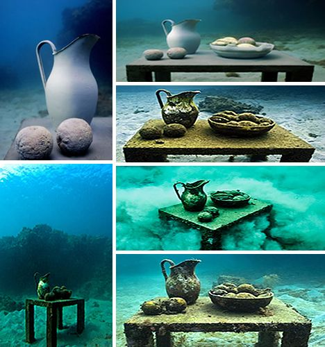 table    Underwater sculpture