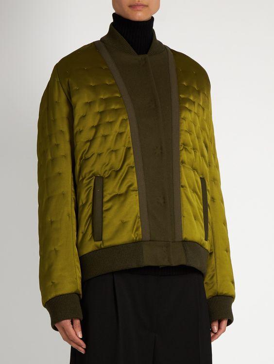 Quilted satin bomber jacket | Maison Margiela | MATCHESFASHION.COM