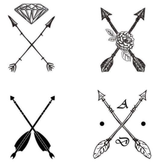 An arrow through a diamond can symbolize courage and invincibility as you move forward.
