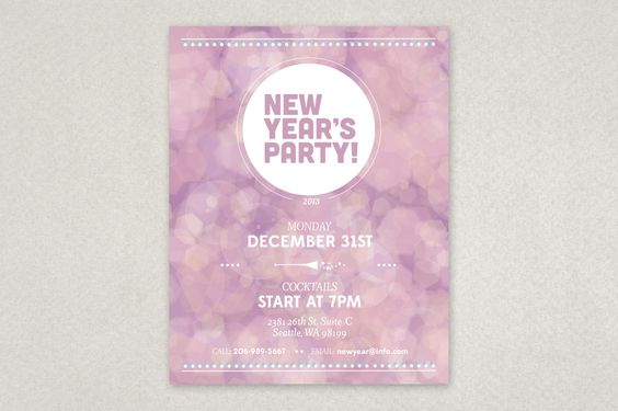 Candy Cane Party Flyer Template u2014 Bring attention to your holiday - holiday party flyer template