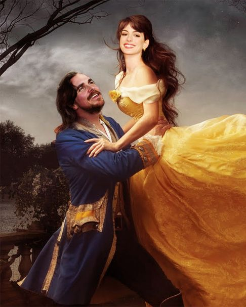 Christian Bale And Anne Hathaway As Belle And The Beast