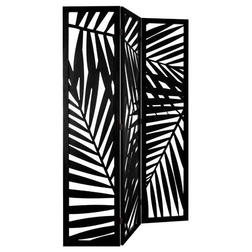 Ce Joli Paravent Contemp Home Noir En Bois Peint Peut S Integrer Dans Plusieurs Univers Deco Loft Boheme Son Motif Foug En 2020 Paravent Parement Mural Noir Deco