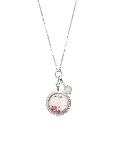 Love this Stainless Steel 'Mom' Locket Pendant Necklace by Wise Creations on #zulily! #zulilyfinds