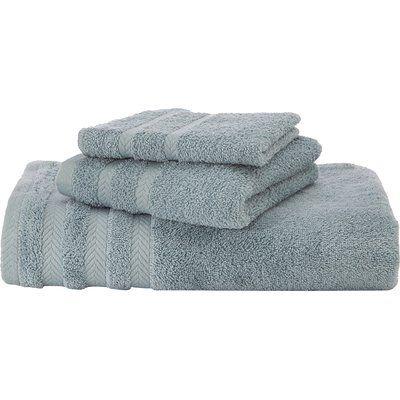 Martex Egyptian Quality Cotton Bath Towel Color Mineral Blue