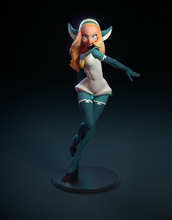 Dofus Book 1 : Bakara Figure, Laurent Boucher on ArtStation at https://www.artstation.com/artwork/dofus-livre-1-bakara-figure