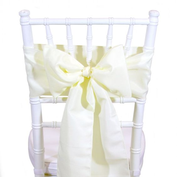 Polyester Chair Sash - Ivory [404025] : Wholesale Wedding Supplies, Discount Wedding Favors, Party Favors, and Bulk Event Supplies: