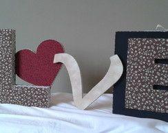 Porta Retrato em Tecido Cartonagem Love
