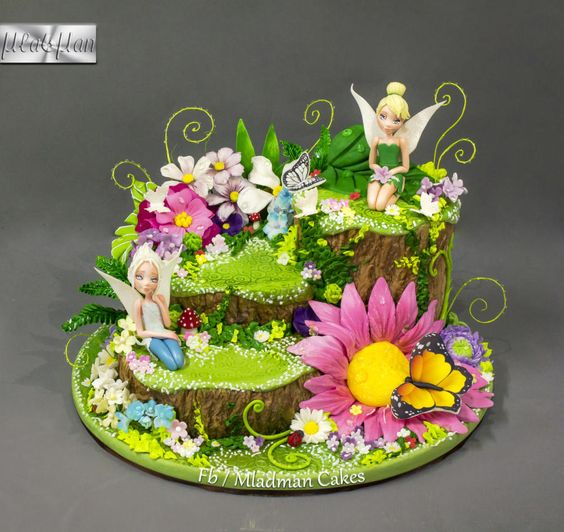Cake Designs Tinkerbell : Tinker Bell Flower Cake by MLADMAN Cakes & Cake ...